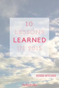 Lessons learned in 2015